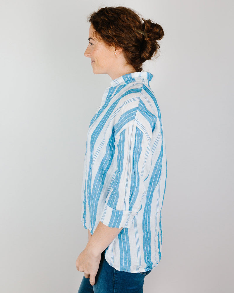CP Shades Clothing Gigi Top in Bright Blue Stripe