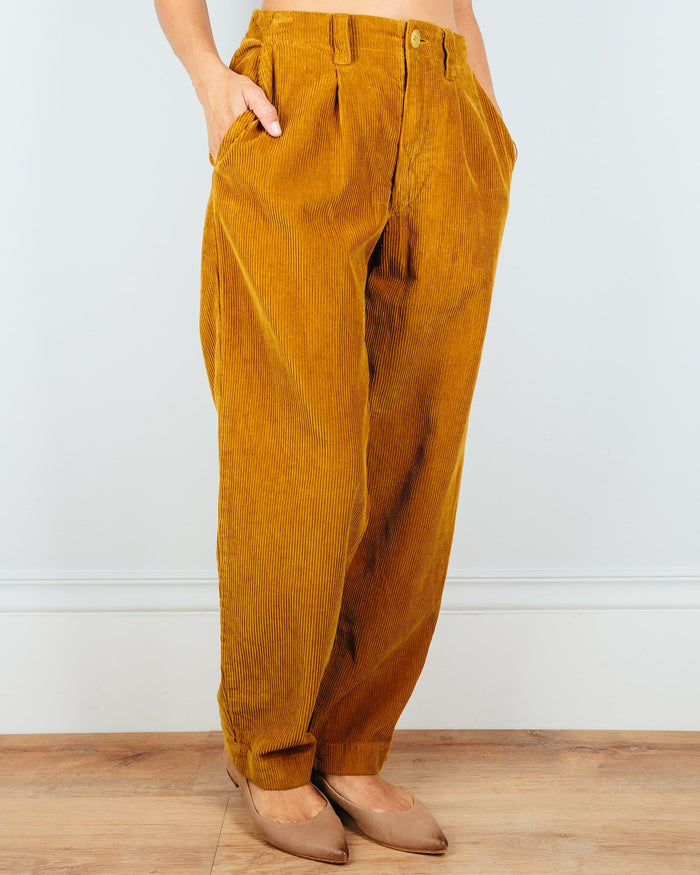 CP Shades Clothing Ginger Tapered Pant in Dijon Wide Wale Cord
