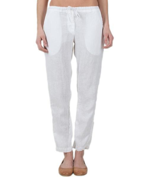 CP Shades Clothing White / XS Hampton Straight Leg Pant in White Linen
