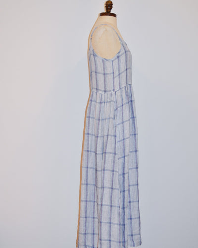 CP Shades Clothing Hazel Dress in Blue & Pink Plaid