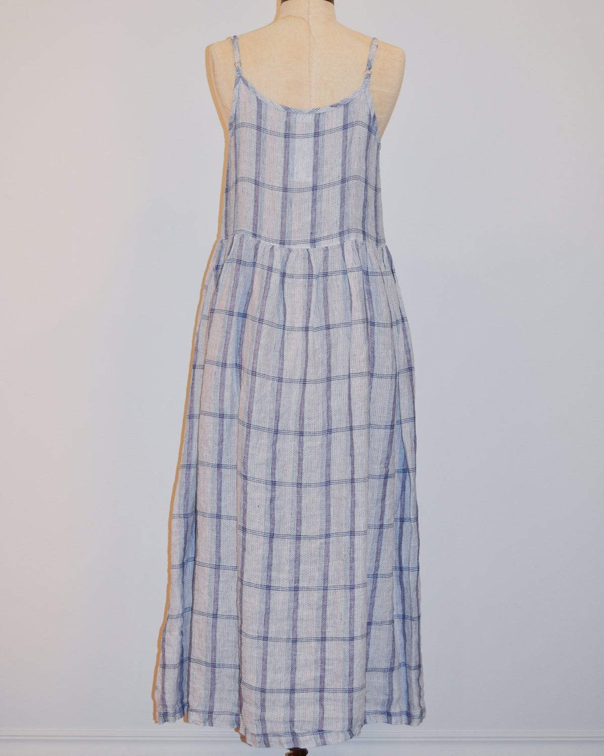 CP Shades Clothing S Hazel Dress in Blue & Pink Plaid