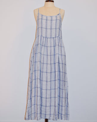CP Shades Clothing XS Hazel Dress in Blue & Pink Plaid