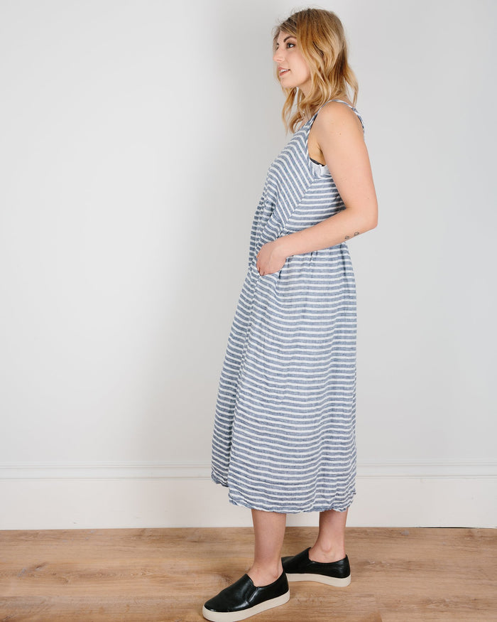 CP Shades Clothing Navy & White Stripe / XS Hazel Dress in Navy & White Stripe