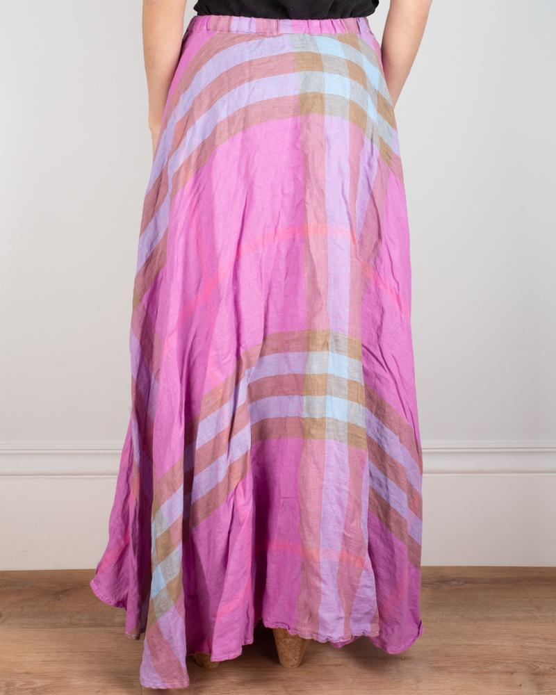 CP Shades Clothing Inez Circle Skirt in Pink Madras
