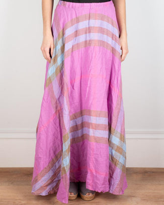 CP Shades Clothing XS Inez Circle Skirt in Pink Madras