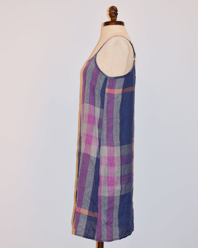 CP Shades Clothing Irma Dress in Blue Madras