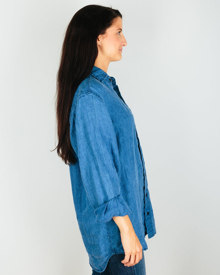 CP Shades Clothing Jack Blouse in Bleach Indigo Twill