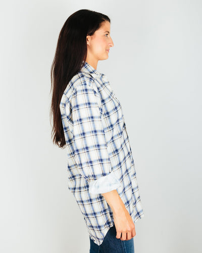 CP Shades Clothing Jack - Blouse Plaid Micro Cord