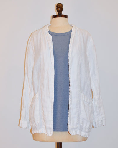 CP Shades Clothing Jackson Jacket in White Linen Twill