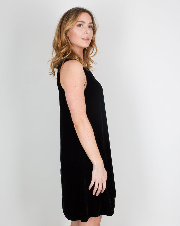 CP Shades Clothing Jacqui Tank Dress in Black Velvet