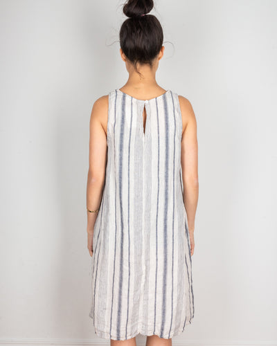 CP Shades Clothing Jacqui Tank Dress in Navy & Ivory Stripe