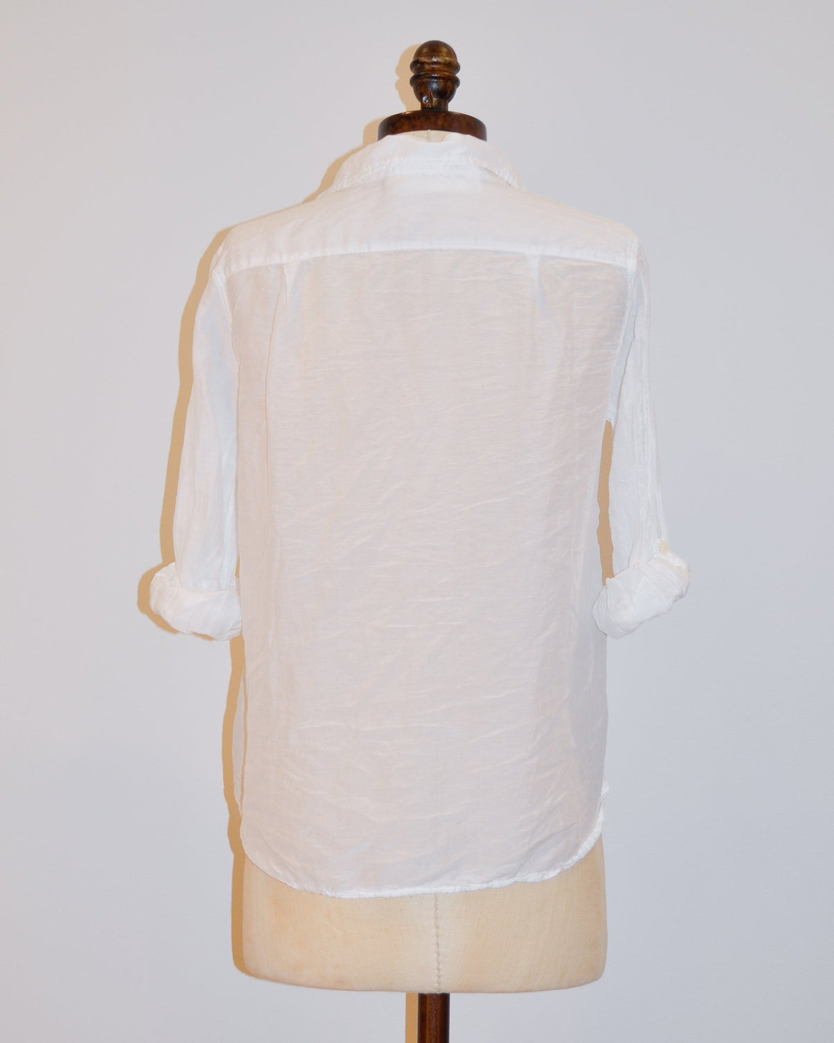 CP Shades Clothing Jay Blouse in White Cotton Silk