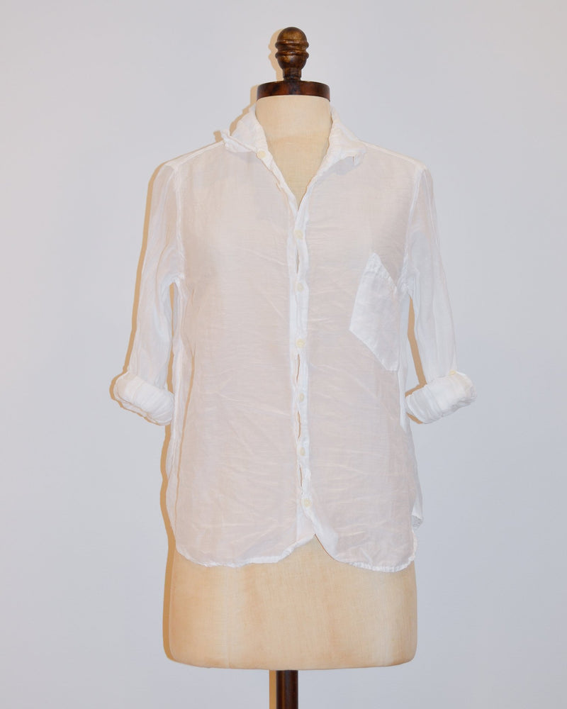 CP Shades Clothing XS Jay Blouse in White Cotton Silk