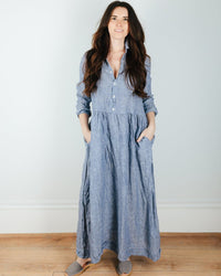 CP Shades Clothing Justine Dress in Ink Chambray