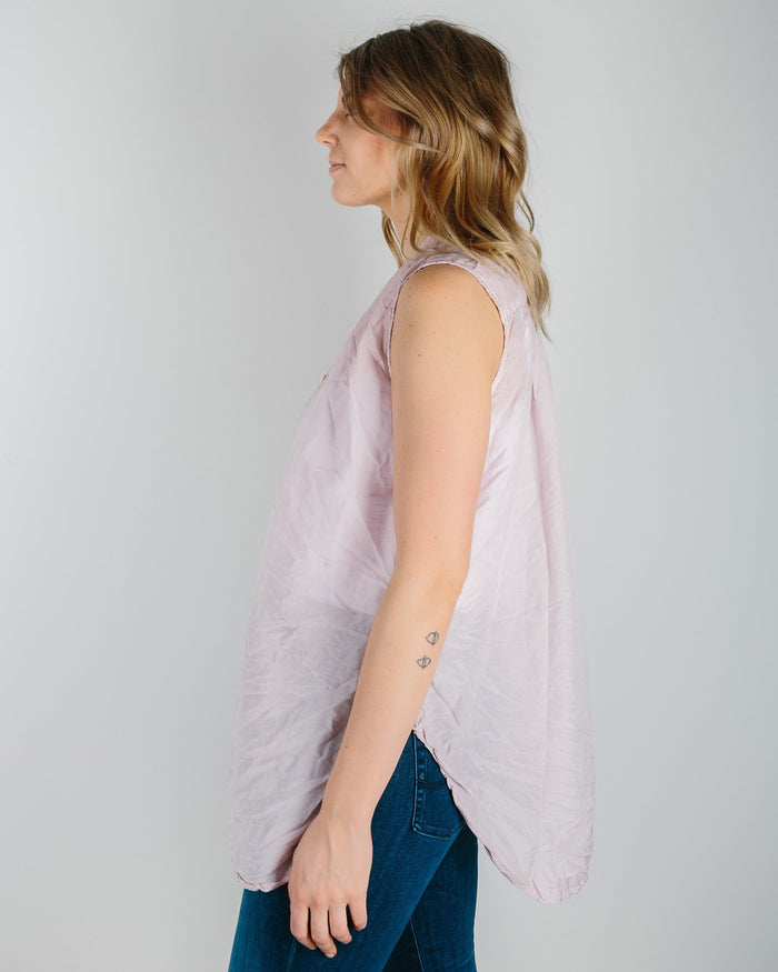 CP Shades Clothing Peony / XS Karla A Line Tank Tunic in Peony Cotton Silk