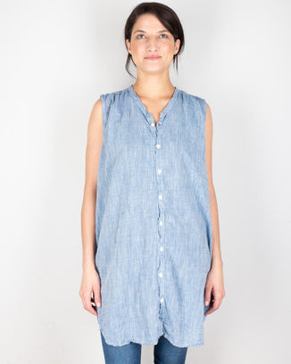 CP Shades Clothing Chambray / XS Karla Tank Tunic in Cotton Chambray