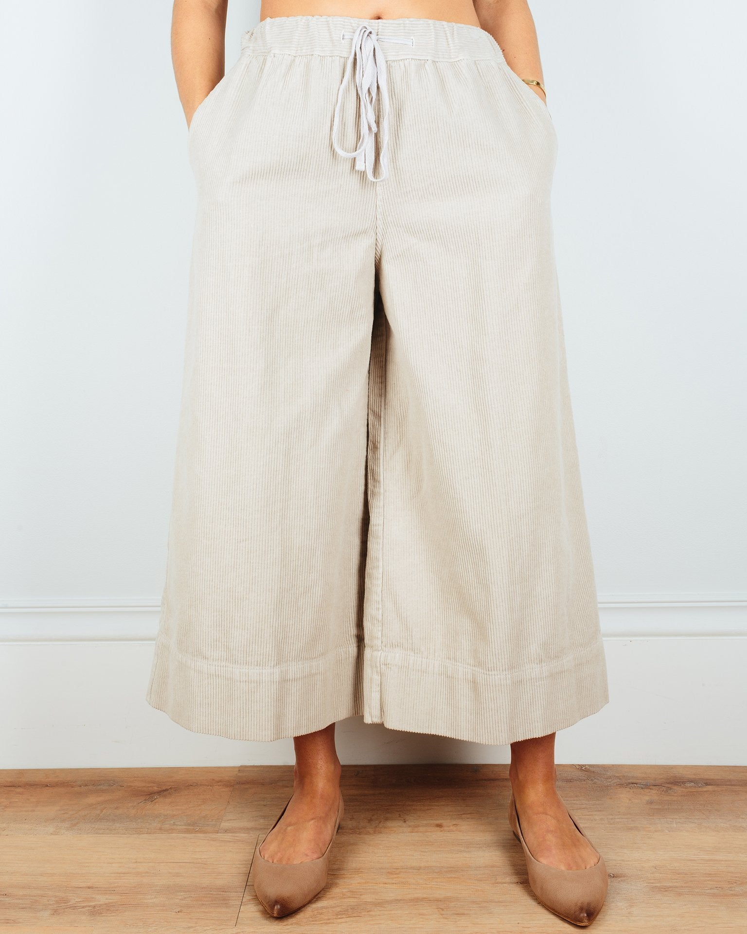 CP Shades Clothing Oat / XS Kiki Crop Pant in Oat Wide Wale Cord
