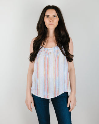 CP Shades Clothing Koo Tank in Rainbow Stripe
