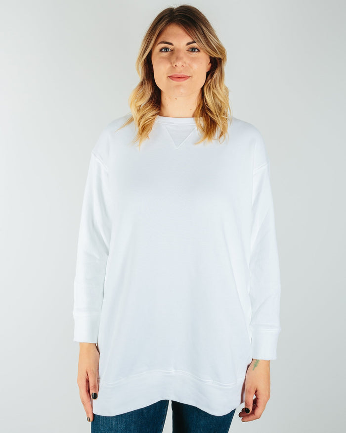 CP Shades Clothing White / XS Logan Heavy Knit Tunic Sweatshirt