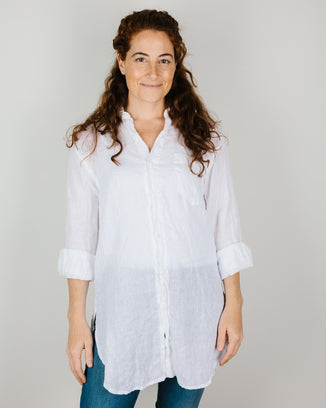 CP Shades Clothing Marella Shirt in White Cotton