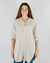 CP Shades Clothing Marella Tunic Blouse in Bone Micro Cord