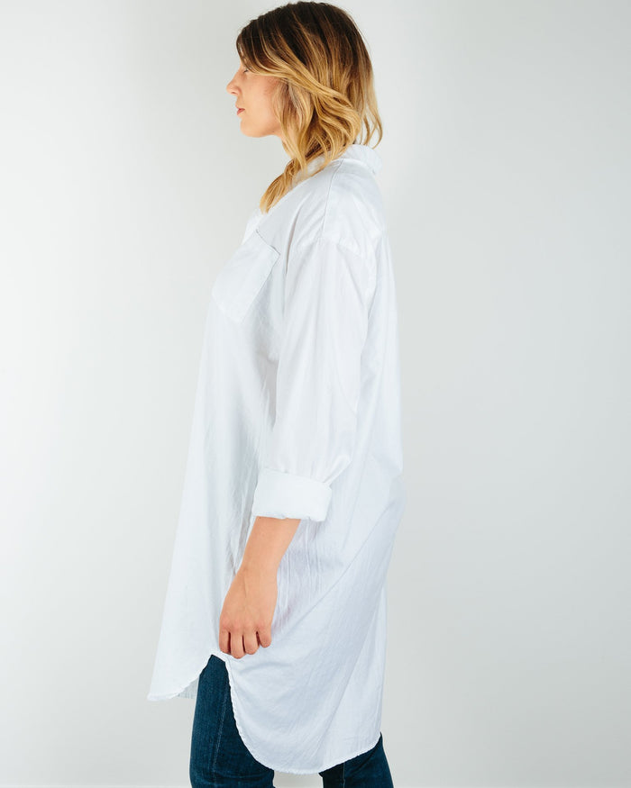 CP Shades Clothing Mari Oversized Shirtdress in Cotton Twill