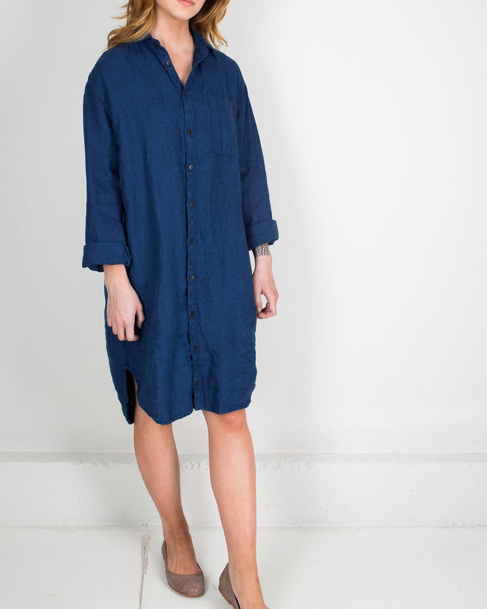 CP Shades Clothing Indigo / XS Mari Oversized Shirtdress