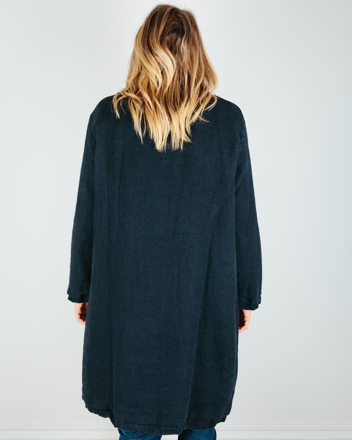 CP Shades Clothing Marian Linen/Wool Coat in Ink