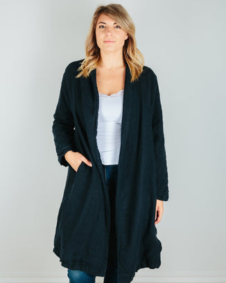 CP Shades Clothing Ink / XS Marian Linen/Wool Coat in Ink