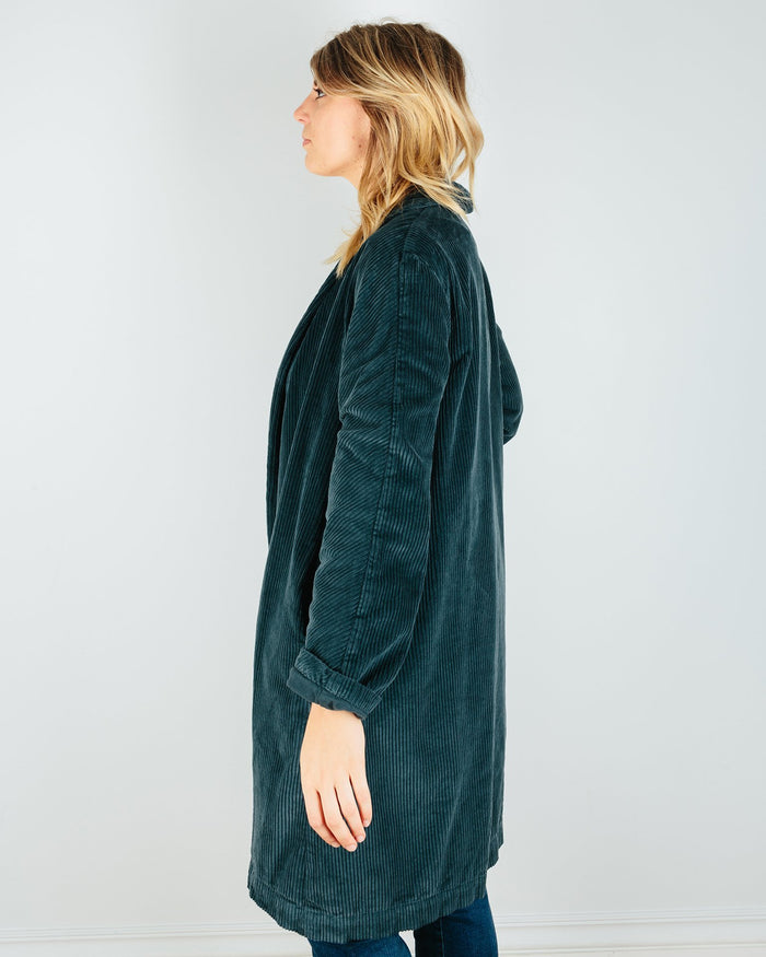 CP Shades Clothing Marian Wide Wale Cord Coat in River Rock