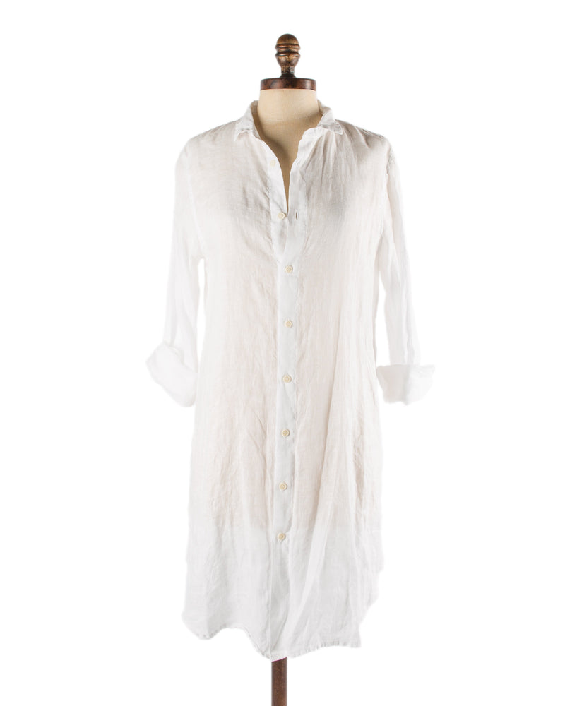 CP Shades Clothing White / XS Marlene Tunic in White Linen
