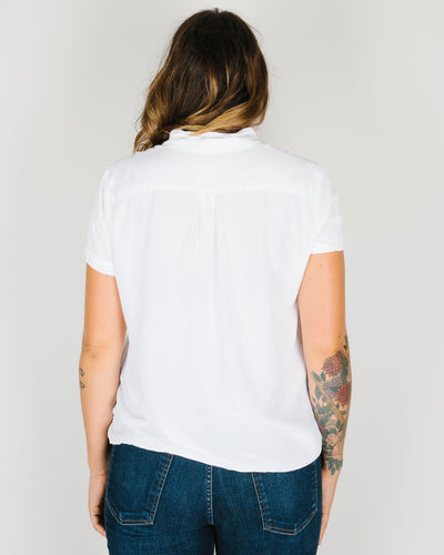 CP Shades Clothing Mia S/S Crop Blouse in White