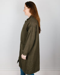 CP Shades Outerwear Morgan Coat in Algae Wool