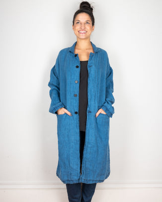CP Shades Outerwear Bleach Indigo / XS Morgan Coat in Bleach Indigo Twill