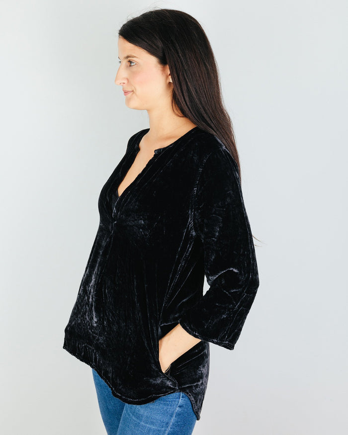 CP Shades Clothing Pascal Blouse in River Rock Silk Velvet