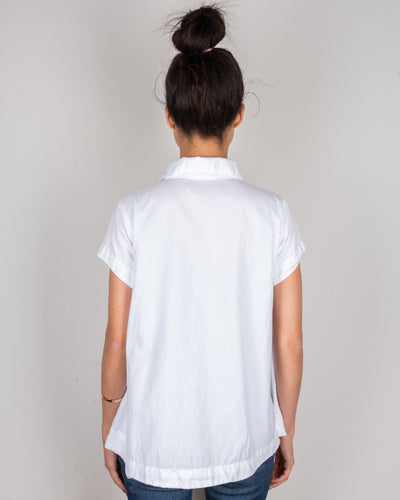 CP Shades Clothing Peek Henley Blouse in White