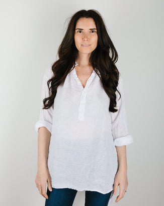 CP Shades Clothing Petra Blouse in White Linen