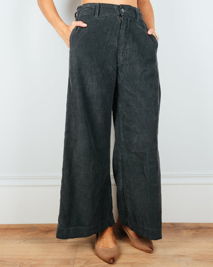 CP Shades Clothing Polly Wide Leg Pant in Iron Wide Wale Cord