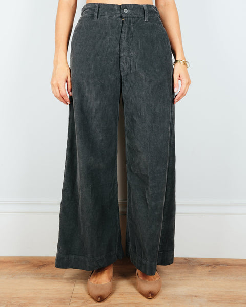 CP Shades Clothing Iron / XS Polly Wide Leg Pant in Iron Wide Wale Cord