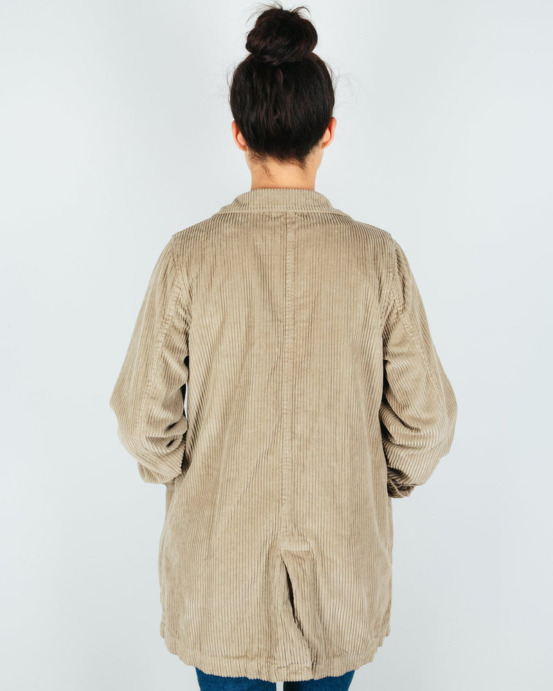 CP Shades Outerwear Regan Coat in Elephant Wide Wale Cord