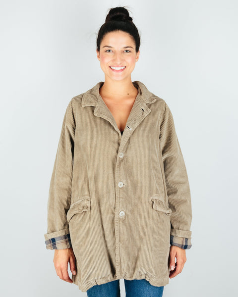 CP Shades Outerwear Elephant / XS Regan Coat in Elephant Wide Wale Cord