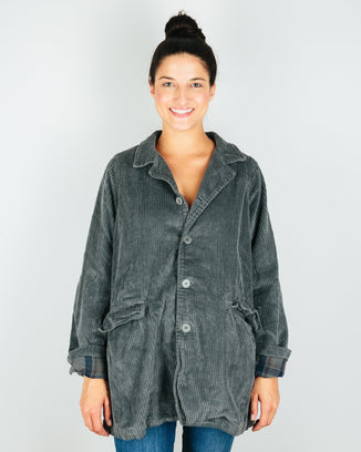 CP Shades Outerwear Iron / XS Regan Coat in Iron Wide Wale Cord