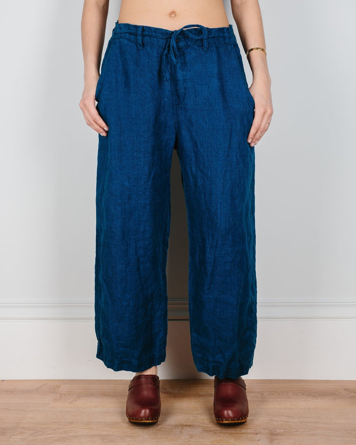 CP Shades Clothing Riley Crop Straight Leg Pant in Indigo Twill