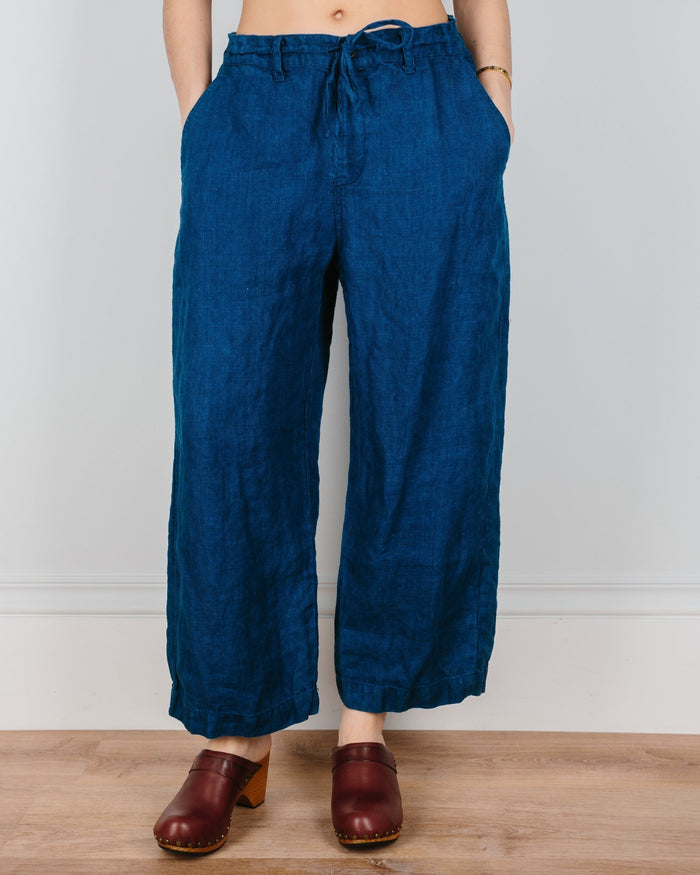 CP Shades Clothing Indigo Twill / XS Riley Crop Straight Leg Pant in Indigo Twill