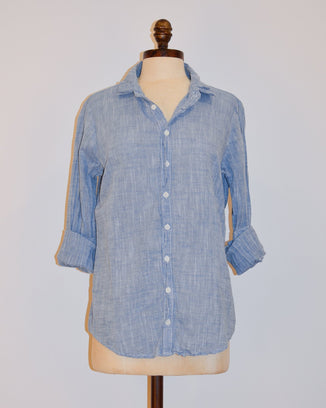CP Shades Clothing XS Romy Blouse in Cotton Chambray