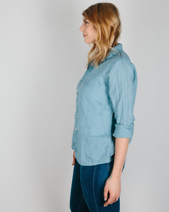 CP Shades Clothing Turkish Blue / XS Romy Blouse in Turkish Blue Linen