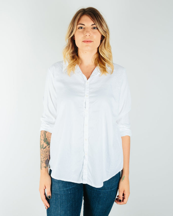 CP Shades Clothing White / XS Romy Blouse in White Cotton Twill