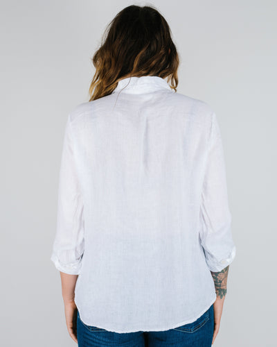 CP Shades Clothing Romy Blouse in White Linen