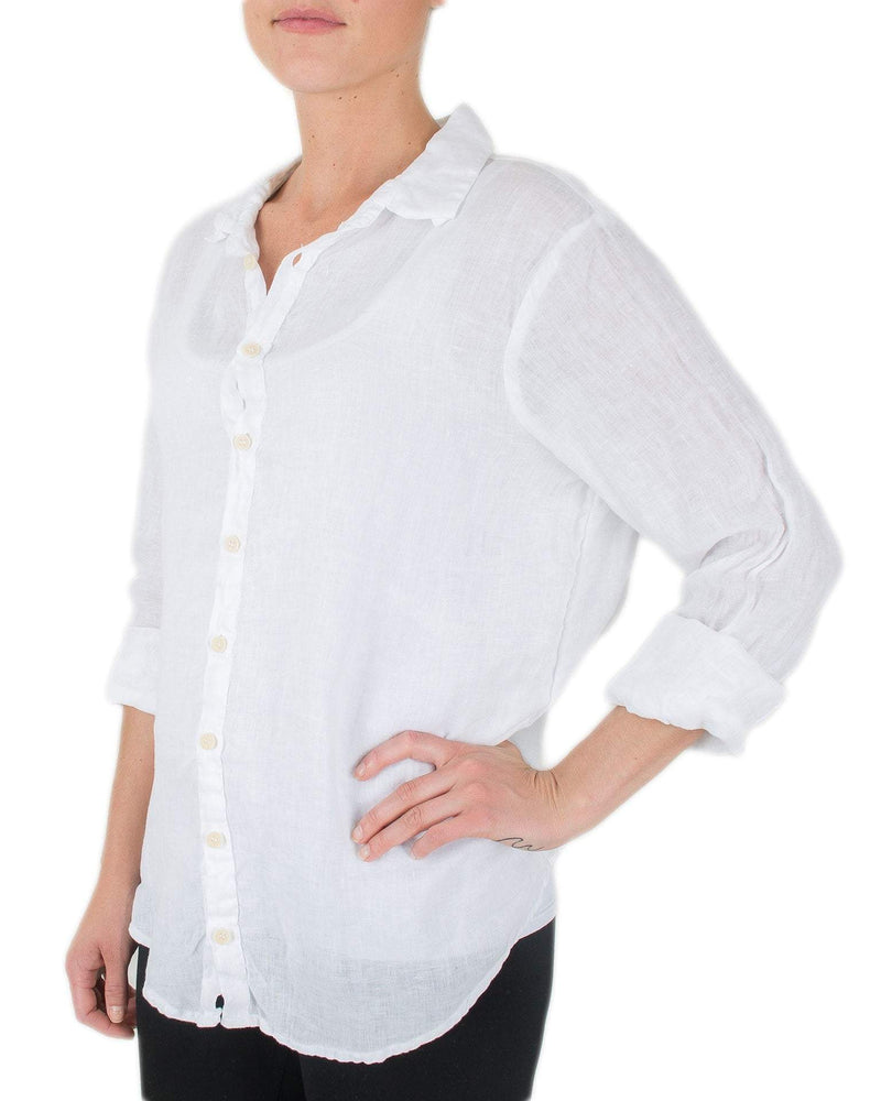 CP Shades Clothing White / XS Romy Blouse in White Linen