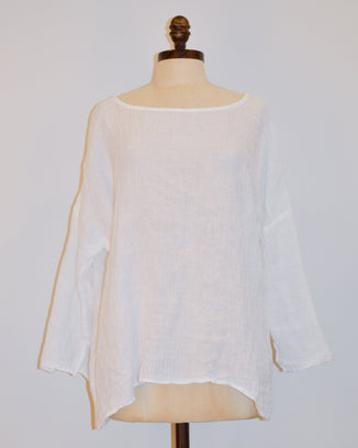 CP Shades Clothing White / XS Sibella in White Linen Gauze